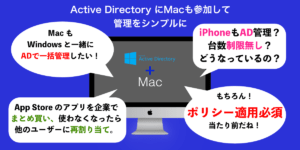 Apple(Mac,iPad,iPhone)対応 Active Directory (AD) 連携 改修サービス